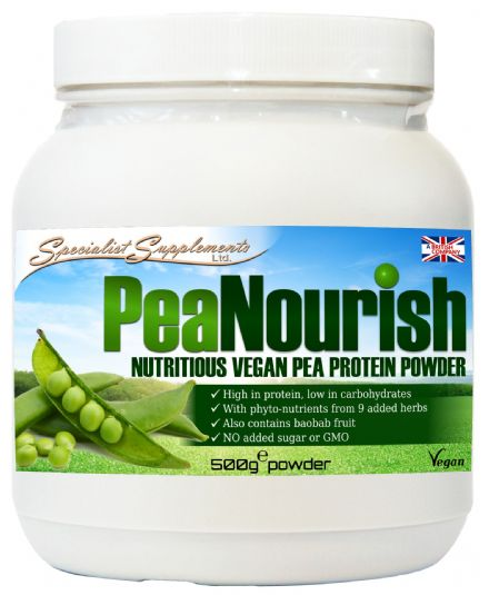 PeaNourish 500g: Vegan Pea Protein; Specialist Supplements